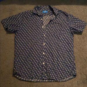 Navy Blue Casual Button down Shirt